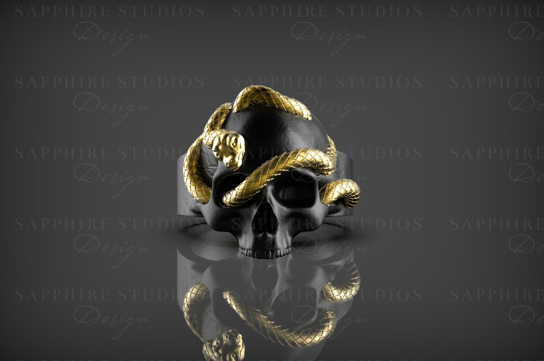 men's skull ring